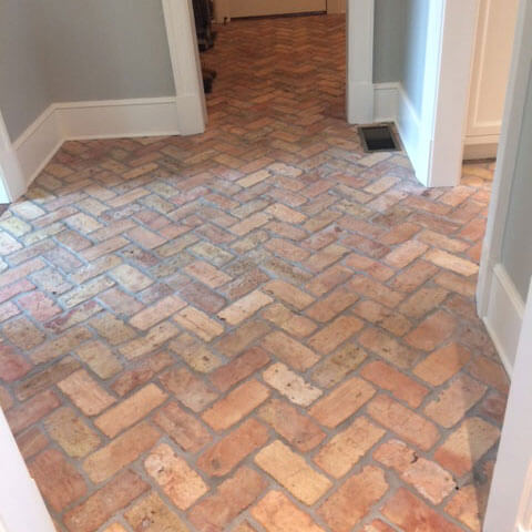 Reclaimed Brick Floor Tiles