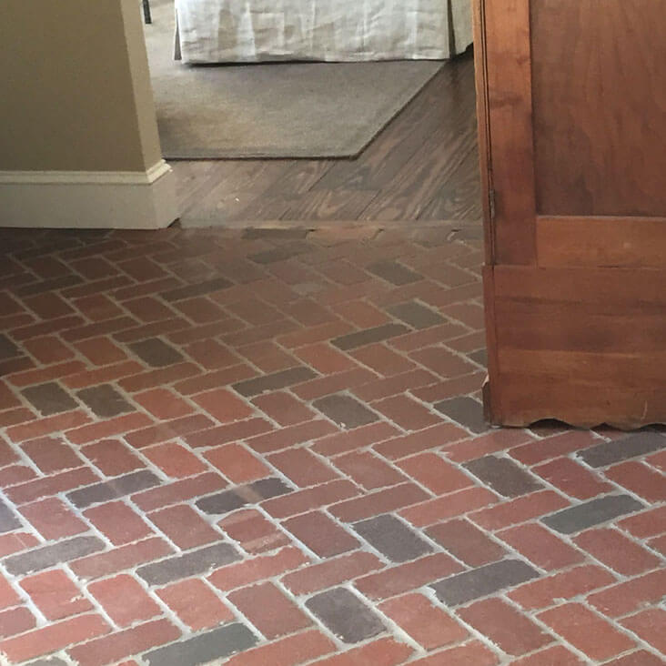 Tumbled Thin Brick Floors